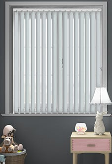 Palermo (Blackout), Light Grey - Vertical Blind