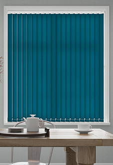 Roma, Teal - Vertical Blind