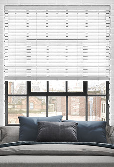 Ecowood, Brilliant White Fine Grain - Venetian Blind