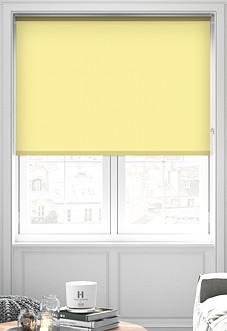 Palermo (Blackout), Yellow - Motorised Roller Blind