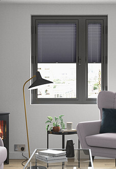 Pleated, Anchor Grey - Perfect Fit Blind