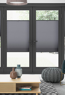 Pleated (Blackout), Nevada Grey - Perfect Fit Blind