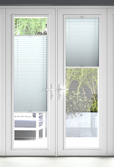 Pleated (Blackout), Pearl White - Perfect Fit Blind
