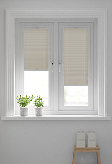Pleated, Fawn - Perfect Fit Blind