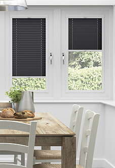 Pleated, Noir - Perfect Fit Blind