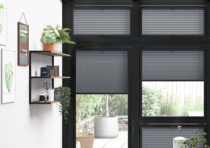 Pleated, Obsidian Grey - Perfect Fit Blind