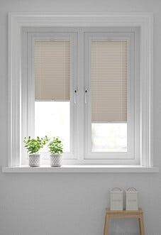 Pleated, Soft Peach - Perfect Fit Blind