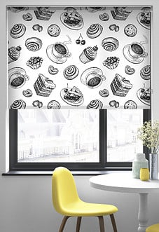 Coffee and Cakes - Roller Blind