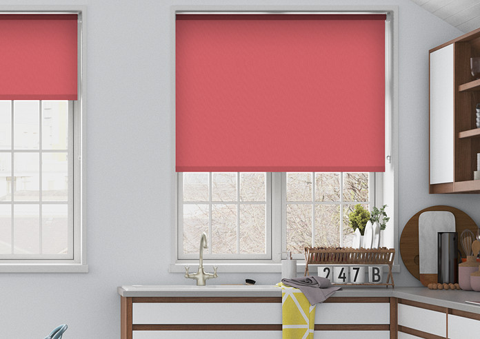 Trinity (Blackout), Coral - Roller Blind