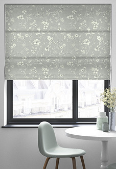 Etched Vine, Feather - Roman Blind