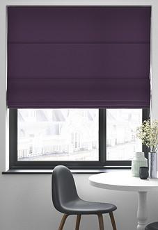 Faux Suede, Purple - Roman Blind