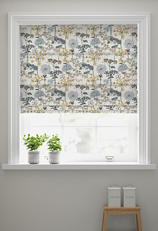 Hedgerow, Charcoal - Roman Blind