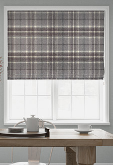 Highland, Dove Grey - Roman Blind
