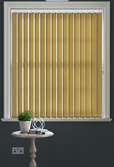 Ferns, Gold - Vertical Blind
