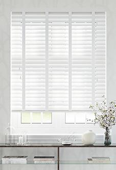Ecowood Deluxe, Pure White Satin - Venetian Blind