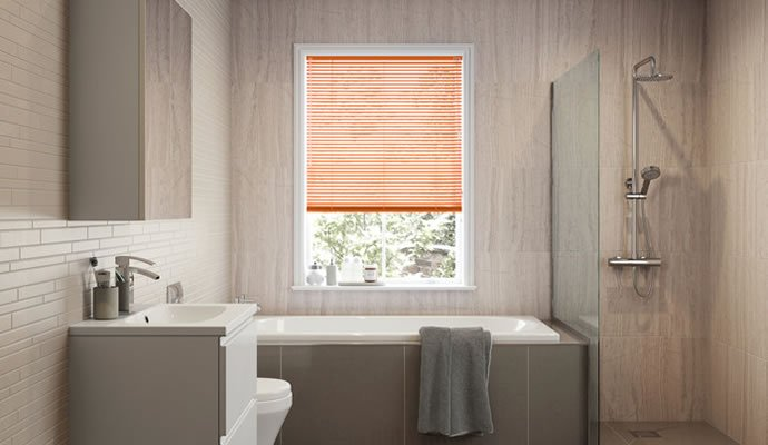 Waterproof bathroom blinds for Blinds bathroom window