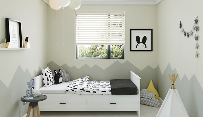 Bedroom Wooden Blinds
