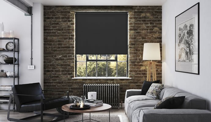 Black and White Blackout Blinds