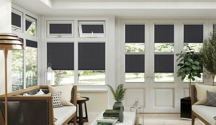 Black Conservatory Blinds