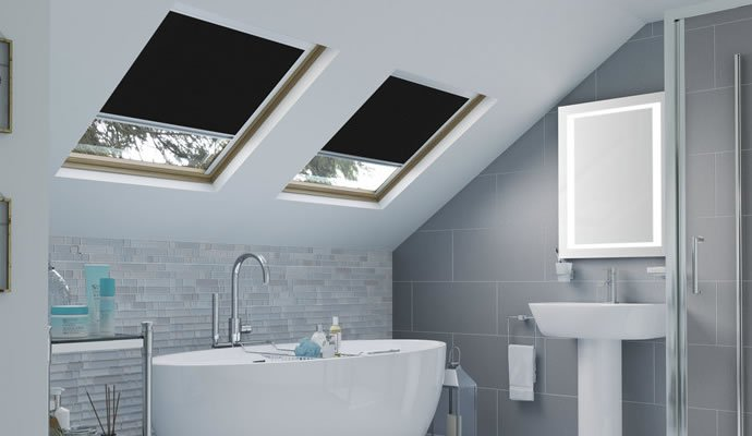 Black Skylight Blinds