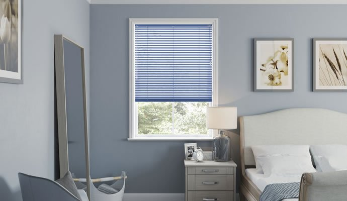 Blue Venetian Blinds