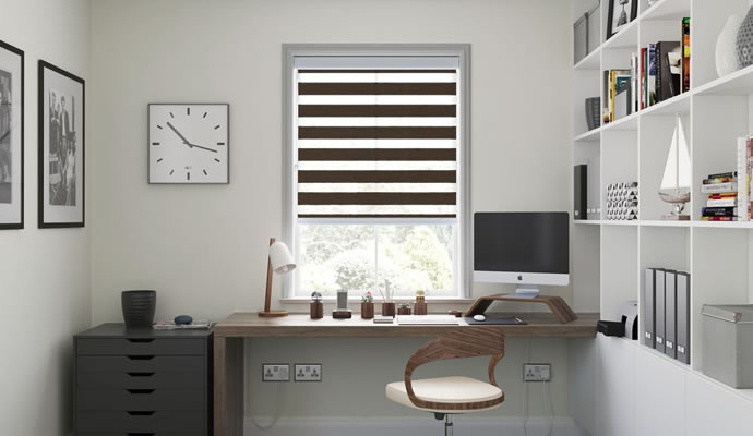 Brown Day Night Blinds