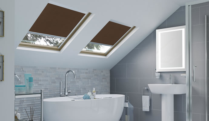 Brown Skylight Blinds
