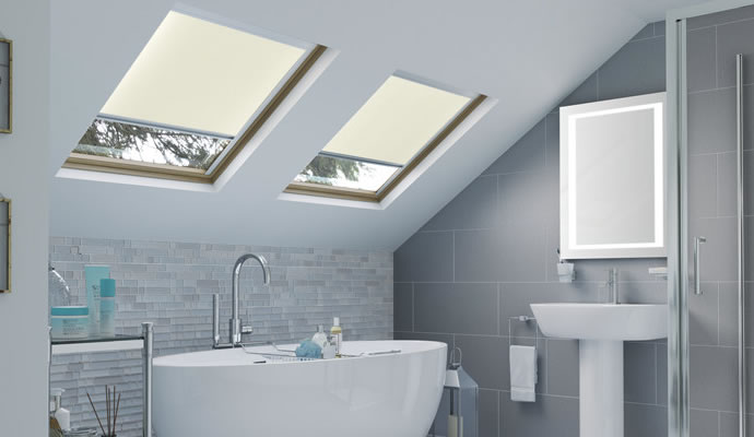 Cream Skylight Blinds