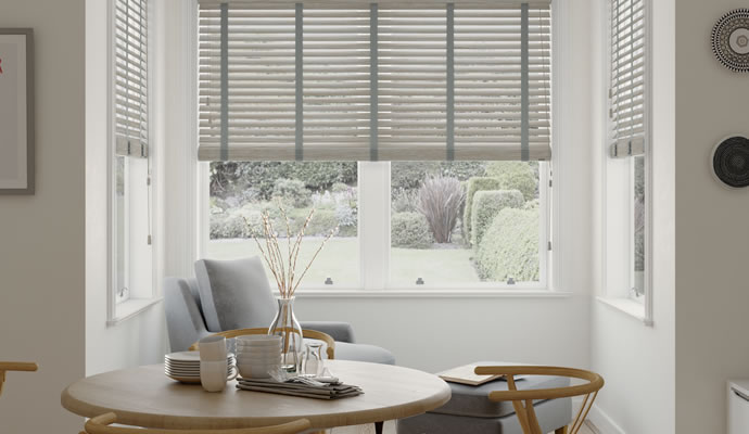 Dining Room Wooden Blinds