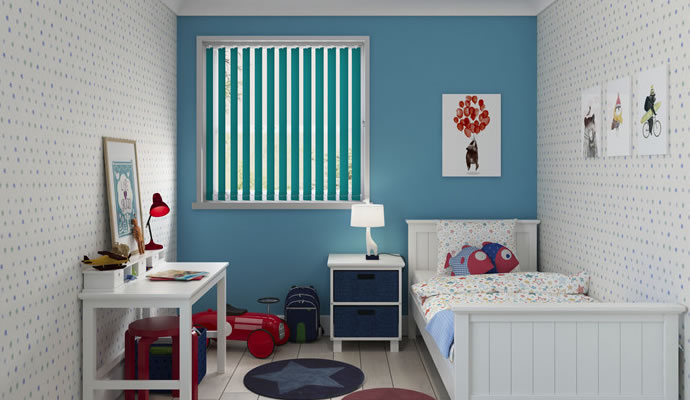 Green Motorised Blackout Blinds