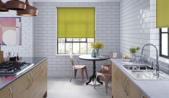 Green Motorised Roller Blinds