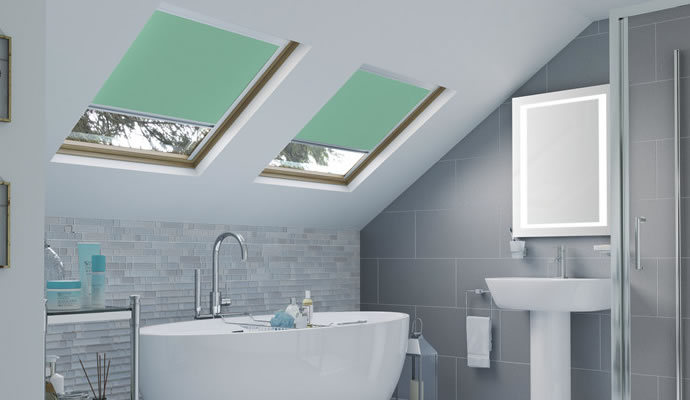 Green Skylight Blinds