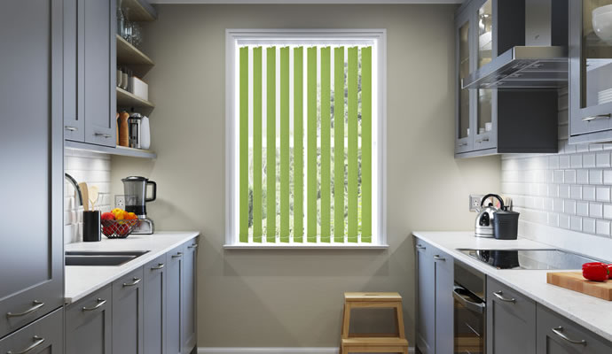 Green Vertical Blinds