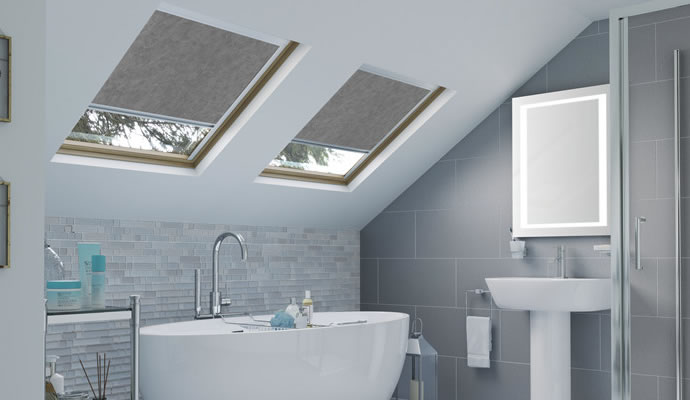Grey Skylight Blinds