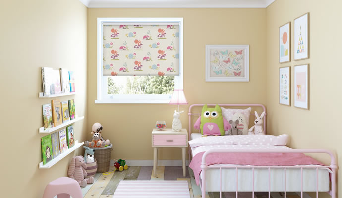 Nursery kids bedroom blinds for Blinds for kids rooms