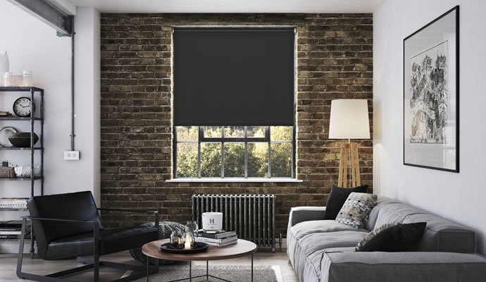 Charming Living Room Blackout Blinds