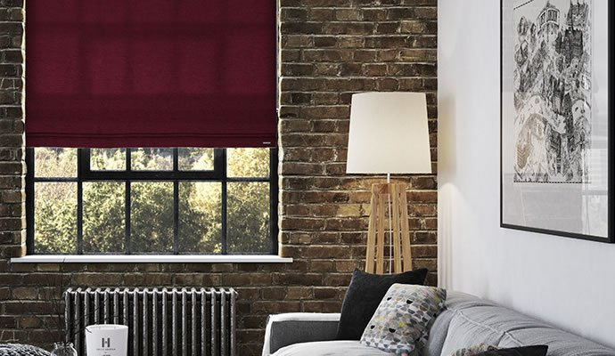 Beautiful Living Room Roman Blinds
