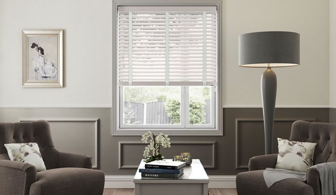 Living Room Wooden Blinds