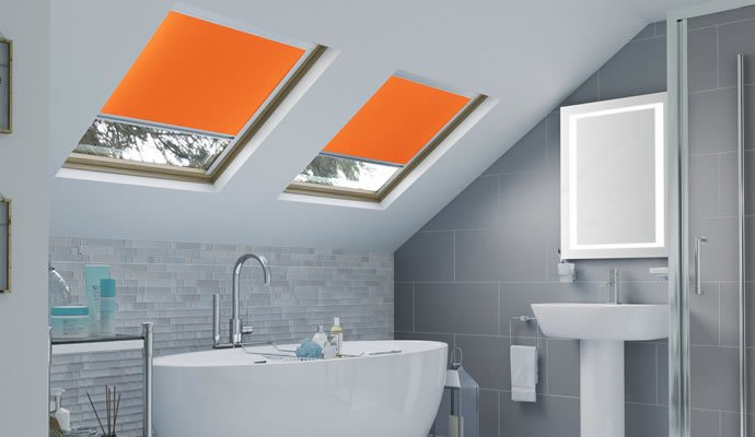 Orange Skylight Blinds