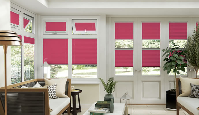 Pink Conservatory Blinds