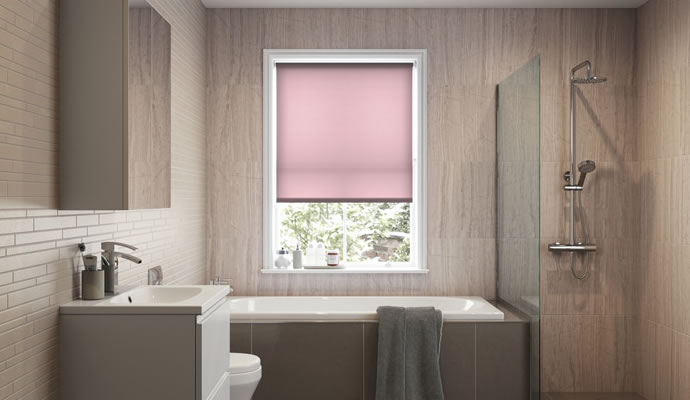 Pink Motorised Roller Blinds