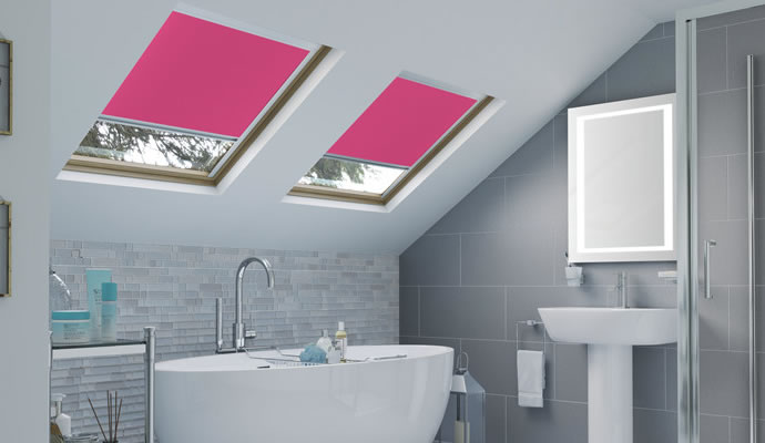 Pink Skylight Blinds