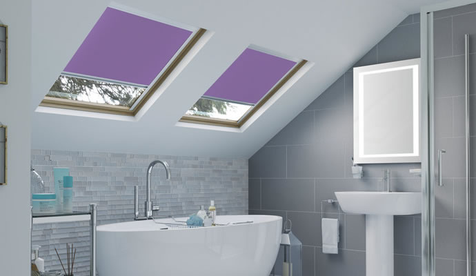Purple Skylight Blinds