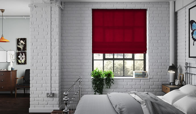 Red Blinds Made To Measure 247blinds Co Uk