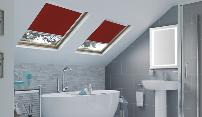 Red Skylight Blinds