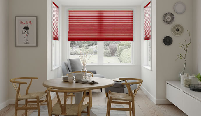 Red Blinds Made to Measure 247Blindscouk