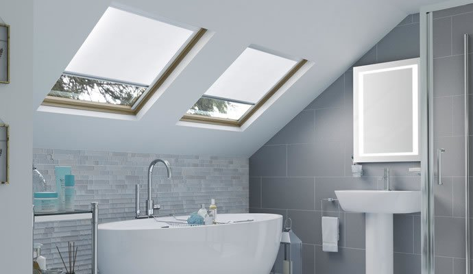 White Skylight Blinds