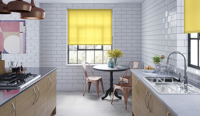 Merveilleux Yellow Roller Blinds