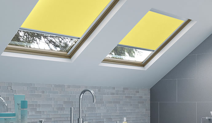 Yellow Skylight Blinds